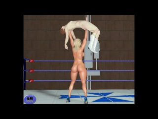 Toon mixed wrestling